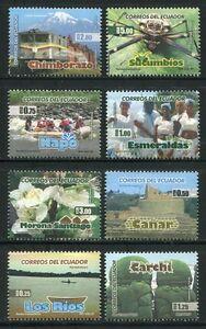 Ecuador-2009-province-ferrovia-MAGGIOLINO-folklore-Fiore-rudere-turismo-3127-34-MNH