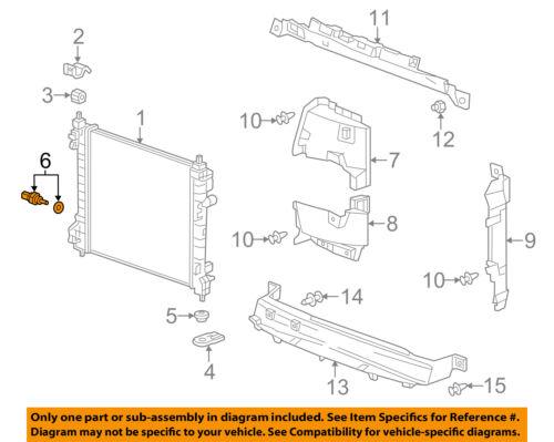 Chevrolet GM OEM 13-15 Spark 1.2L-L4 Radiator-Temperature Sensor 25181969