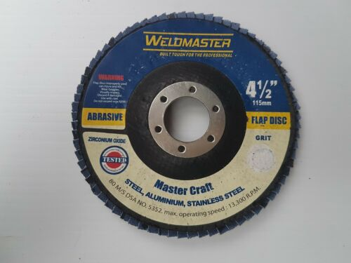 WELD MASTER 4.5INCH 115MM FLAP DISCS 10 PACK 1.50EA