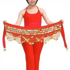 New Belly Dance Belt Velvet & 320pcs Golden Coins Hip Scarf Belt 11 colors