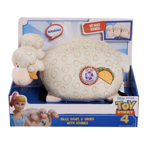 Disney Pixar Toy Story 4 Bo Peep/'s Billy Goat /& Gruff w//Sound Effects Plush NEW