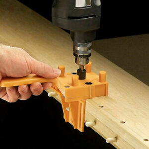 NEW Handheld Woodworking Guide Wood Dowel Drilling Hole Saw Doweling Jig