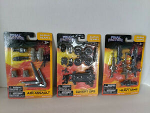 Final Faction Alpha Team 1 Weapons Packs - Lot of 3 - NEW! Covert Ops/Heavy Arms