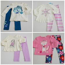 NWT Girls Fall Lot L/S Shirts Leggings Gymboree Place Baby Gap sz 2t