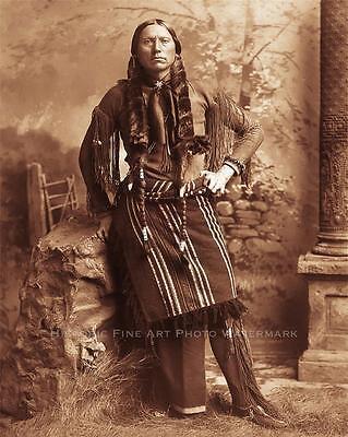 COMANCHE INDIAN CHIEF QUANAH PARKER VINTAGE PHOTO NATIVE AMERICAN WARRIOR #21351