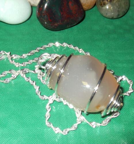 Fortuna Collana con AGATA cristalloterapia zen pietre mineral chakra argento P