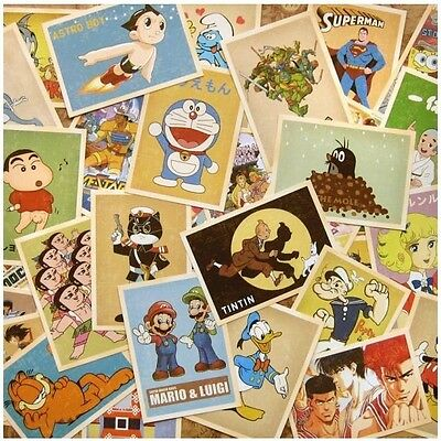 Lot of 32p Vintage Post card Postcard Postcards Cartoon Mario/TomJerry/Popeye/