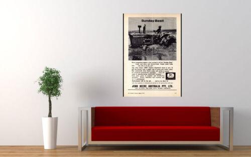 "1964 JOHN DEERE TRACTORS AD PRINT WALL POSTER PICTURE 33.1/""x23.4/"""