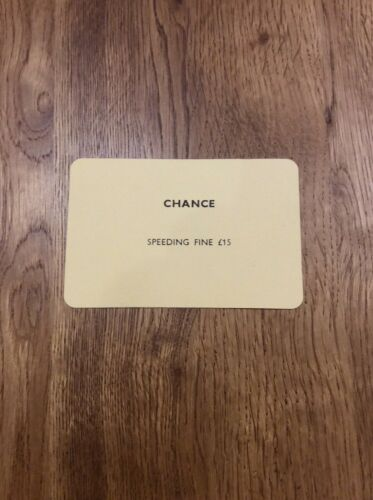 Vintage Monopoly Spare Individual Chance Cards Replacements Immaculate
