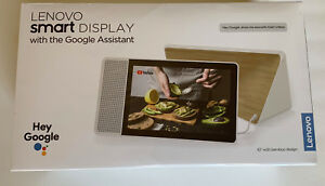 Lenovo-10-034-Smart-Display-with-Google-Home-Assistant-White-Front-Bamboo-Back