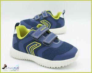 Dettagli su Geox Scarpe per Bambino da Ginnastica Sneakers Bimbo Estive in Tela Blu Sportive
