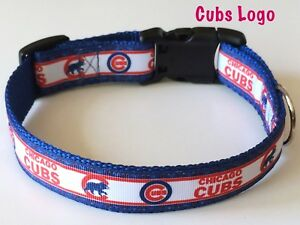 check out caee6 ecc27 Details about Chicago Cubs Logo Adjustable Dog Collar