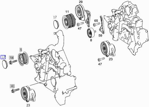 Mercedes Drive Fan V-Belt Pulley Bearing Cover Dust Cap A0019885735