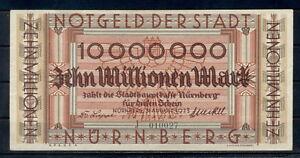 GERMANY 100 MILLIARDEN MARK NURNBERG BANKNOTE NOTGELD 1923 FINE