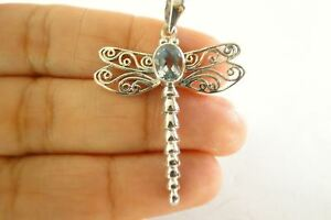 Blue-Topaz-Dragonfly-925-Sterling-Silver-Pendant