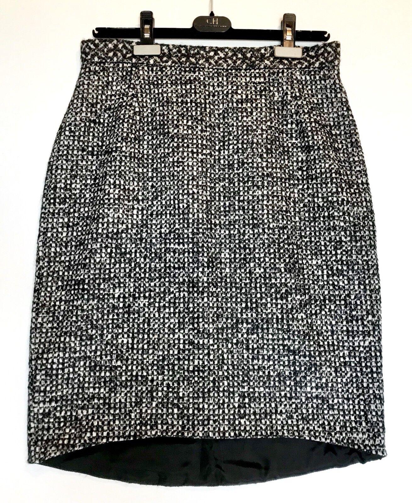 bilolina Herrera Tweed Wool Alpaca Mohair kjol NWT Detaljhandel  385 Price  195 Sz 8