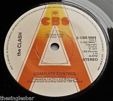 """The Clash - Complete Control UK CBS 1977 Promotional 7"""" Single P/S"""