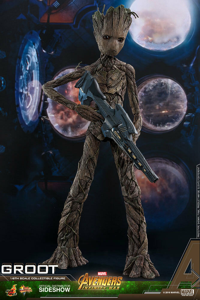 1 6 Vengadores  Infinito Guerra Groot MMS Figura Hot Juguetes 903424