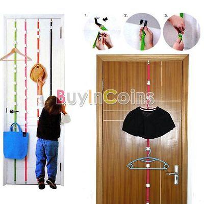 8 Hooks Hanger Over Door Adjustable Straps Clothes Rack Hat  Holder Organizer HK