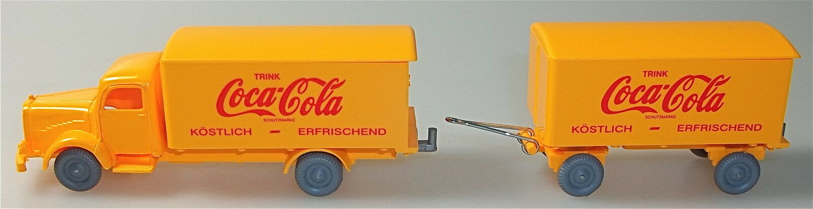 Coca Cola Mercedes 5000 Hängerzug Orange IMU H0 1 87      56    å