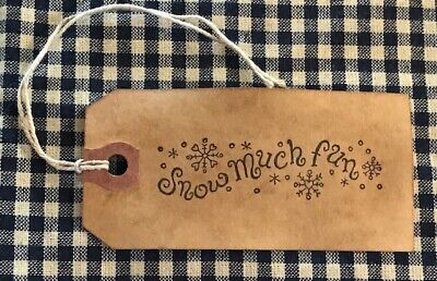 """NEW ITEM ~ 50 PC EXTRA TINY 3//4/"""" x 1//2/"""" Coffee Stained Primitive Price Hang Tags"""