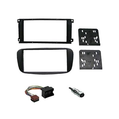Kit mascherina autoradio stereo 1 Din colore grigio  Ford C-Max Focus Fi