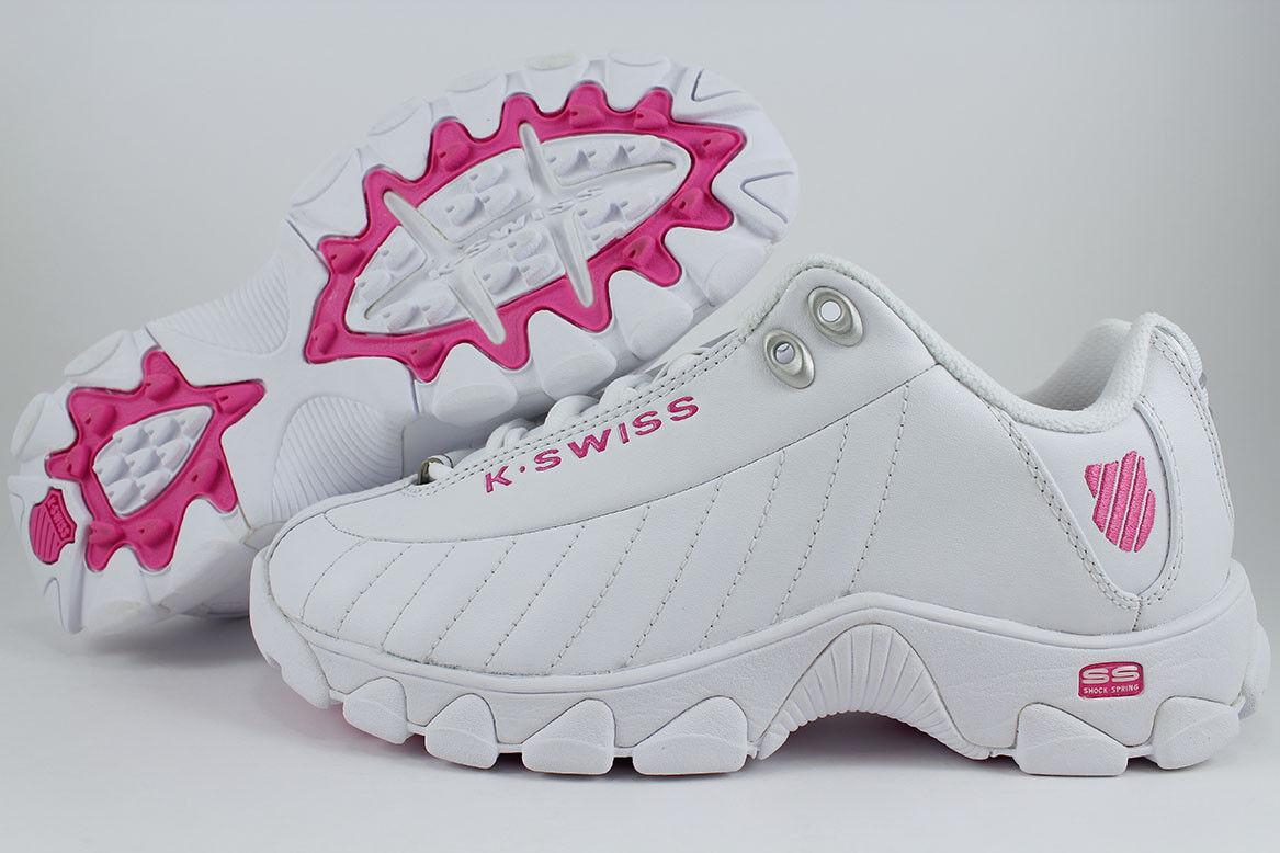K-Swiss ST329 CMF blancoo rosado Impactante entrenador entrenador entrenador de espuma de memoria nos Cuero Mujeres Talla  aquí tiene la última