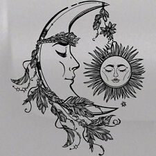 Moon Sun Face Graphic Tailgate Hood Window Decal Vehicle Truck Car SUV Vinyl