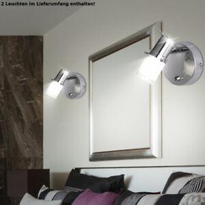 Details zu 2x LED Wand Lampen Bad Badezimmer Spiegel Spot Bilder Strahler  Leuchten Schalter
