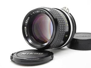 NEAR-MINT-Nikon-Ai-NIKKOR-85mm-f-2-MF-SLR-F-mount-Lens-from-Japan