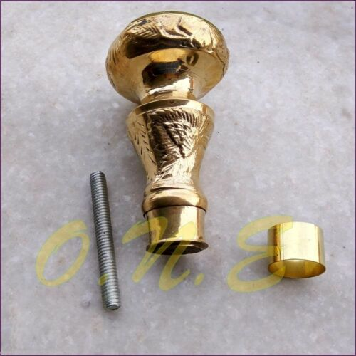 Antique Style Solid Brass Victorian Handle Designer for Walking Canes Wood Stick