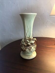 McCoy-1950-Bud-Vase-034-Nested-Birds-034-Green-Brown-Excellent