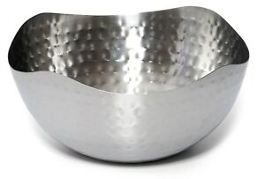 Hammered-Stainless-Steel-Serving-Bowl-Multipurpose-Decorative-Metal-Wave-Bowl