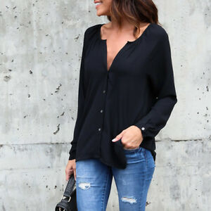 Fashion-Womens-Chiffon-Shirt-Loose-Blouse-Casual-Shirt-Summer-Tops-T-Shirt-New