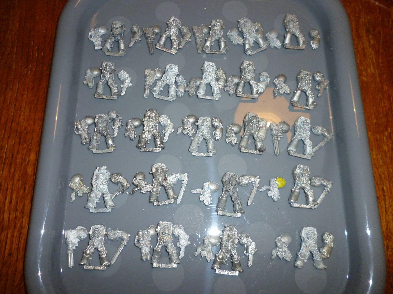 Warhammer 40k Space Marine Rogue Trader  Matal 25 Terminators RARE space wolf  meilleure qualité