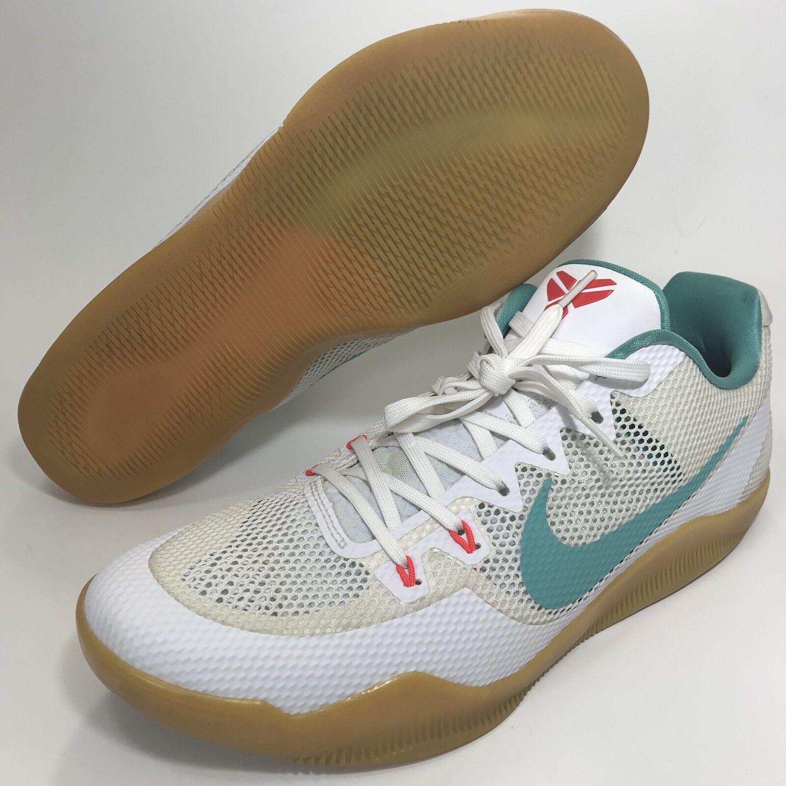 4b9caea8f0d Kobe 11 Xl White Teal Summer Pack 836183-103 Men's Size 14 Nike Gum ...