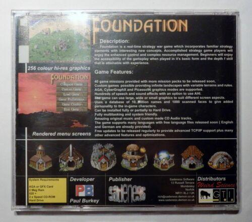 CD COMMODORE AMIGA GAME PAUL BURKEY/'S FOUNDATION D34