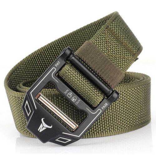 Men Military Belt Buckle Adjustable Combat Waistband Tactical Rescue Rigger