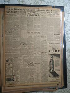 Coca Cola Newspaper Ad 1931 PURE AS SUNSINE - MOBILE AL SPORTS BASEBALL