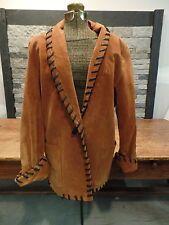 Cedars Suede Jacket Hippie Southwest Native American Western Coat Size S Vintage