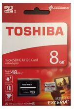 8GB, 8 GB Micro SDHC Speicherkarte CLASS 10 + SD Adapter Toshiba max. 48MB/s