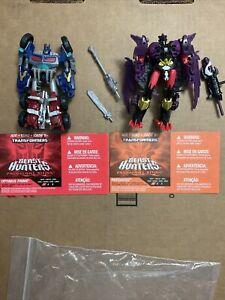 transformers cyberverse Beast Hunters Predacons Rising Optimus Prime v Predaking