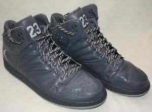 94bcd53717fce9 A+COND! NIKE Air Jordan 1 Flight 4 Men s Gray Basketball Shoes Sz 12 ...