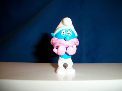 COLD WINTER Muffler Mittens SMURF Kinder Surprise Figurine 1990 SMURFS PUFFI