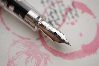 PENBBS 322 Transparent MianMian China Fountain Pen Extra Fine 0.38mm Nib Writing