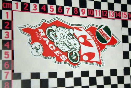 BSA Triumph Norton Royal Enfield Isle of Man 1970 Sticker
