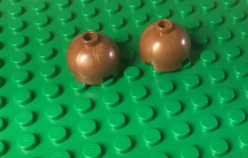 2 x LEGO 2x2 Dome Top Copper Part 553b from Star Wars Sets 7261 /& 7260
