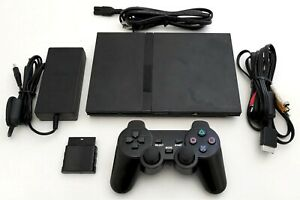 OEM-Sony-PS2-SLIM-Video-Game-System-Gaming-Bundle-Console-Set-Playstation-2-Mini