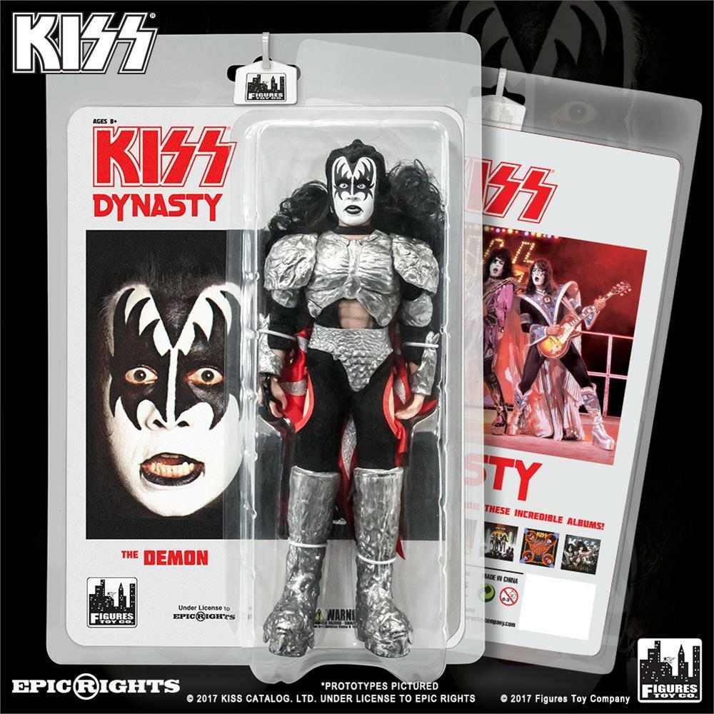 KISS 8 Inch retro GENE SIMMONS THE DEMON Action Figure Series 8 Dynasty NEW