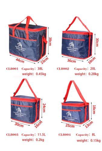 Portable Isolé Thermique Cooler Bag Lunch Carry Tote Picnic Case sac de rangement